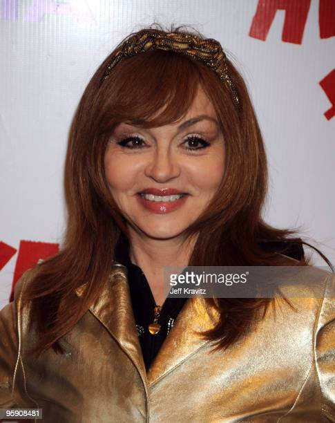 Comedian Judy Tenuta arrives at The Peewee Herman Show Los Angeles Opening Night at Club Nokia on January 20 2010 in Los Angeles California