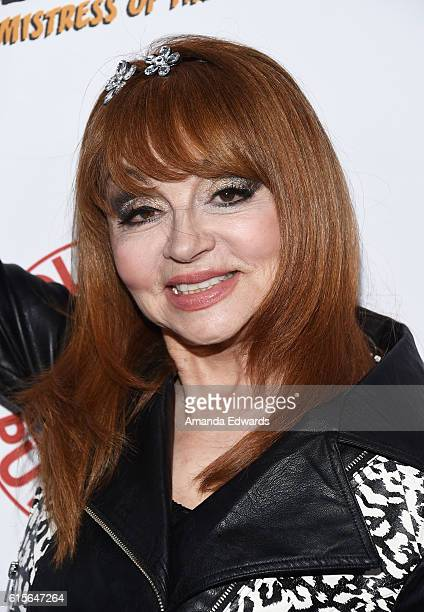 Comedian Judy Tenuta attends the launch party for Cassandra Peterson's new book 'Elvira Mistress Of The Dark' at the Hollywood Roosevelt Hotel on...