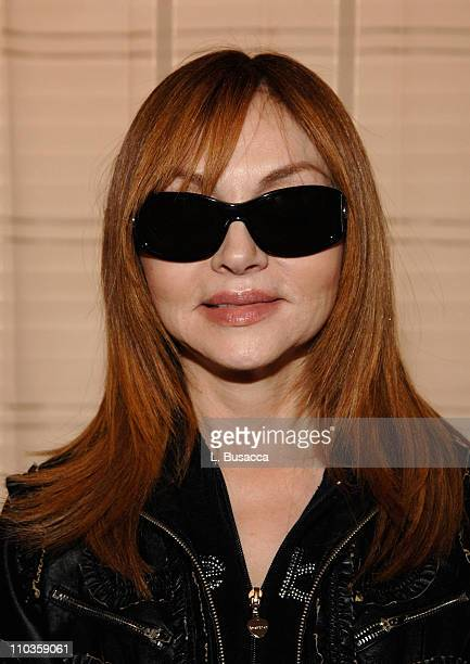 Comedian Judy Tenuta in Marc by Marc Jacobs 035/s sunglasses visits the Hollywood Life House on January 20 2008 in Park City Utah 2008 Park City...