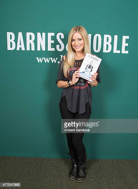 """Comedian Justine Ezarik signs and discusses """"I Justine: An Analog Memoir"""" at Barnes & Noble bookstore at The Grove on June 13, 2015 in Los Angeles,..."""