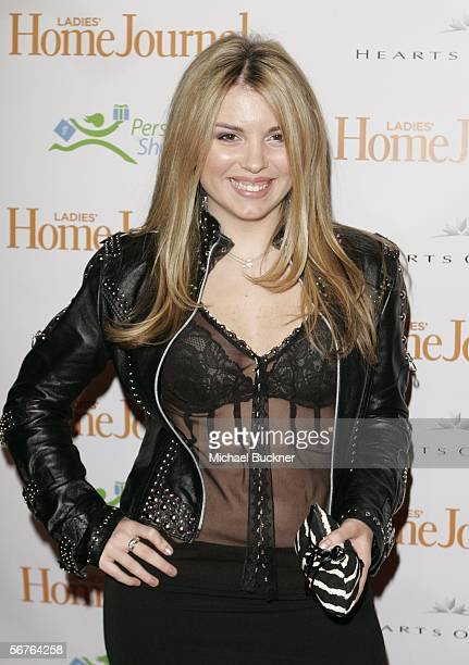 Comedian Kaitlin Colombo arrives at Ladies Home Journal's Funny Ladies We Love at the Cabana Club on February 6 2006 in Los Angeles California