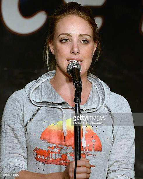 Comedian Kate Quigley performs during her appearance at The Ice House Comedy Club on December 26 2013 in Pasadena California