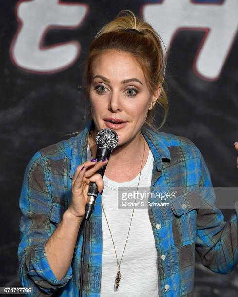 Comedian Kate Quigley performs during her appearance at The Ice House Comedy Club on April 28 2017 in Pasadena California