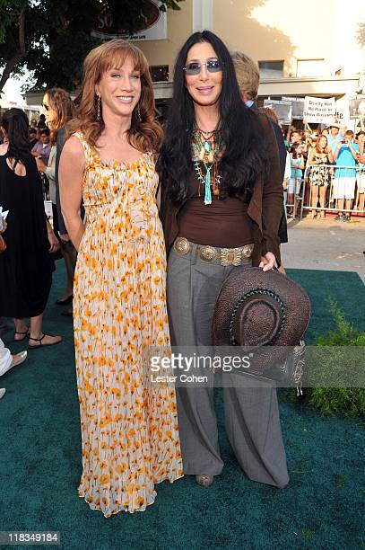 Comedian Kathy Griffin and Cher arrive at the Los Angeles premiere of Zookeeper at Regency Village Theatre on July 6 2011 in Westwood California