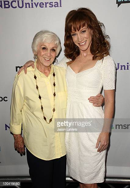 Comedian Kathy Griffin and mother Maggie Griffin attend NBC's 2011 TCA summer press tour at The Bazaar at the SLS Hotel on August 1 2011 in Los...