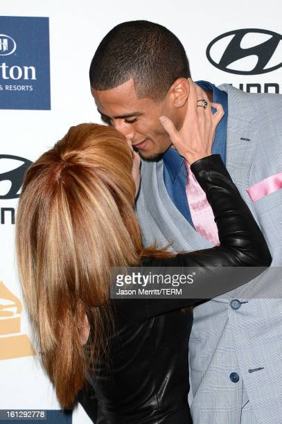 Comedian Kathy Griffin and NFL player Colin Kaepernick arrive at Clive Davis The Recording Academy's 2013 PreGRAMMY Gala and Salute to Industry Icons...