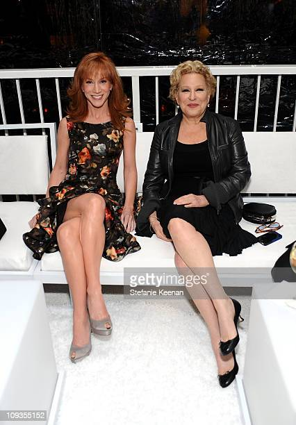 Comedian Kathy Griffin and singer/actress Bette Midler arrive at the 13th Annual Costume Designers Guild Awards with presenting sponsor Lacoste held...