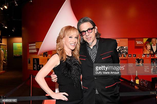 Comedian Kathy Griffin and Vice President of the GRAMMY Foundation Scott Goldman attend at An Evening With Kathy Griffin at The GRAMMY Museum on...
