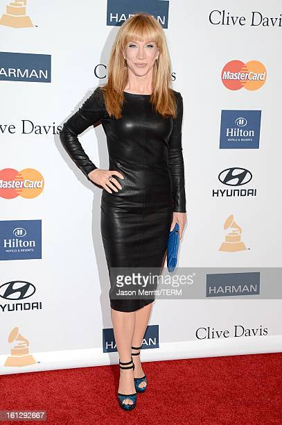 Comedian Kathy Griffin arrives at Clive Davis The Recording Academy's 2013 PreGRAMMY Gala and Salute to Industry Icons honoring Antonio LA Reid at...