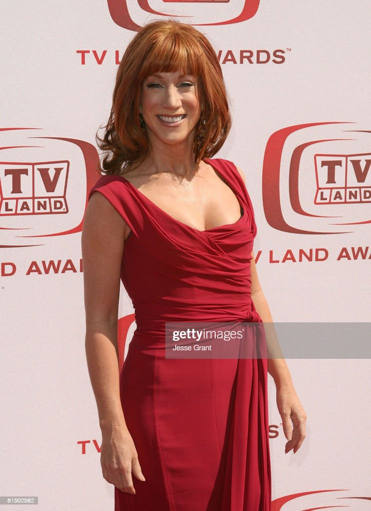 Comedian Kathy Griffin arrives at the 6th annual 'TV Land Awards' held at Barker Hangar on June 8, 2008 in Santa Monica, California.
