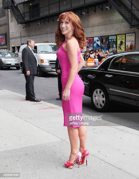 Comedian Kathy Griffin arrives to 'Late Show with David Letterman' at Ed Sullivan Theater on August 22 2012 in New York City