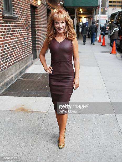 Comedian Kathy Griffin arrives to 'Late Show with David Letterman' at Ed Sullivan Theater on January 2 2013 in New York City