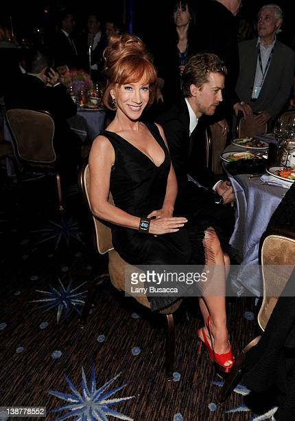 Comedian Kathy Griffin attends Clive Davis and the Recording Academy's 2012 PreGRAMMY Gala and Salute to Industry Icons Honoring Richard Branson held...
