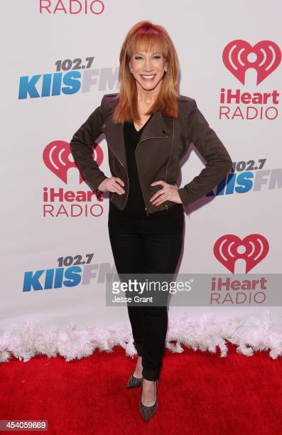 Comedian Kathy Griffin attends KIIS FM's Jingle Ball 2013 at Staples Center on December 6 2013 in Los Angeles CA