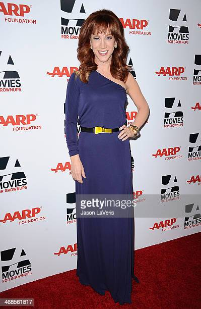 Comedian Kathy Griffin attends the 13th annual AARP's Movies For Grownups Awards gala at Regent Beverly Wilshire Hotel on February 10 2014 in Beverly...