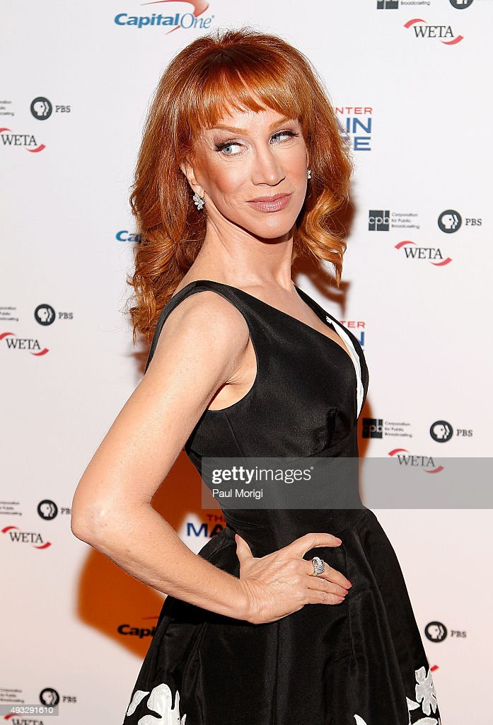 Comedian Kathy Griffin attends the 18th Annual Mark Twain Prize for Humor at The John F. Kennedy Center for Performing Arts on October 18, 2015 in Washington, DC.