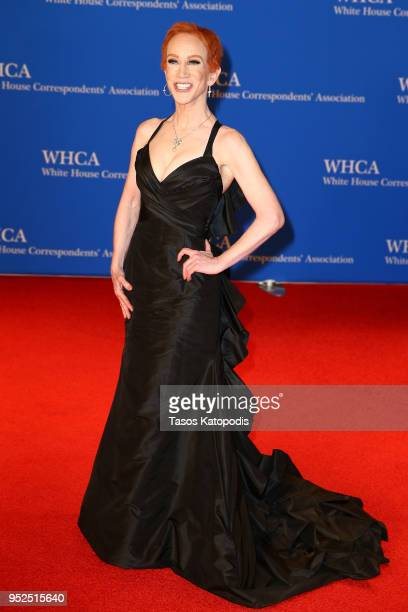Comedian Kathy Griffin attends the 2018 White House Correspondents' Dinner at Washington Hilton on April 28 2018 in Washington DC