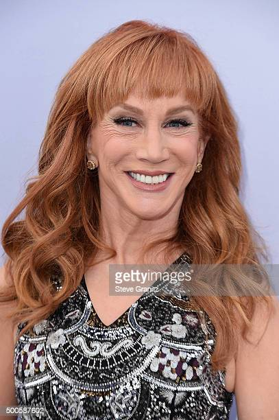 Comedian Kathy Griffin attends the 24th annual Women in Entertainment Breakfast hosted by The Hollywood Reporter at Milk Studios on December 9 2015...