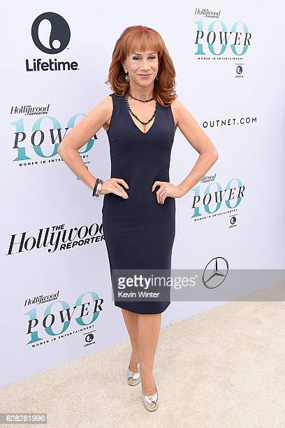 Comedian Kathy Griffin attends The Hollywood Reporter's Annual Women in Entertainment Breakfast in Los Angeles at Milk Studios on December 7 2016 in...