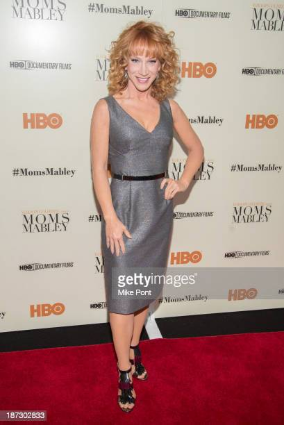 Comedian Kathy Griffin attends the special screening of 'Whoopi Goldberg Presents Moms Mabley' at The Apollo Theater on November 7 2013 in New York...