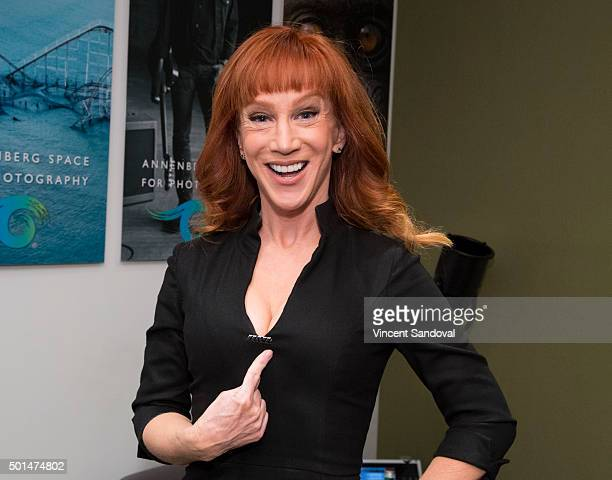 Comedian Kathy Griffin hosts a luncheon for Iraq and Afghanistan Veterans of America at Annenberg Space for Photography Skylight Studios on December...