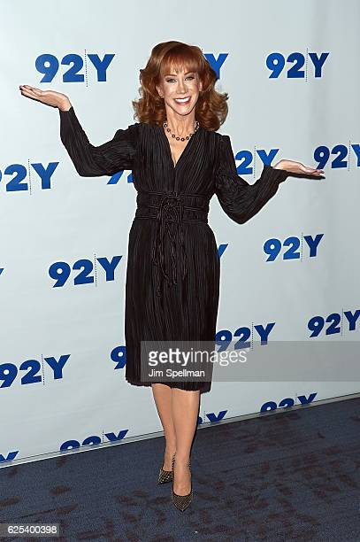 Comedian Kathy Griffin in conversation with Joy Reid at 92nd Street Y on November 23 2016 in New York City