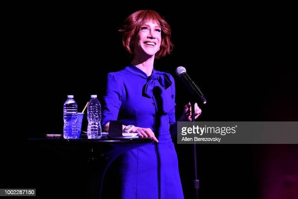 Comedian Kathy Griffin performs during her Laugh Your Head Off Tour at Dolby Theatre on July 19 2018 in Hollywood California