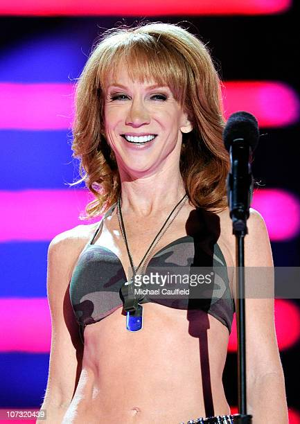 Comedian Kathy Griffin performs onstage during 'VH1 Divas Salute the Troops' presented by the USO at the MCAS Miramar on December 3 2010 in Miramar...