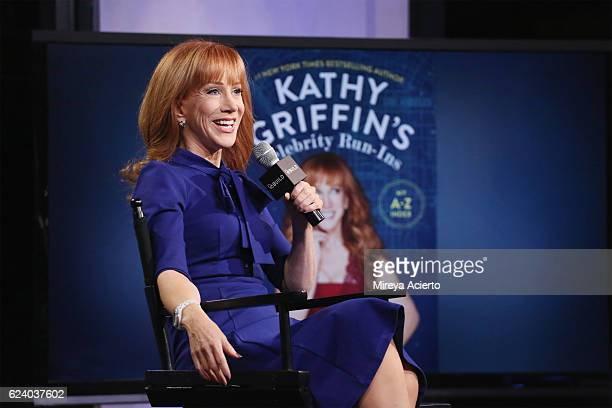 Comedian Kathy Griffin visits the Build Series to discuss her new book 'Kathy Griffin's Celebrity RunIns' at AOL HQ on November 17 2016 in New York...
