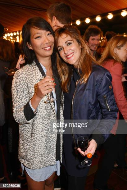 Comedian Kee Yoon Kim and Victoria Bedos attend 'La Closerie Des Lilas' Literary Awards 2016 At La Closerie Des Lilas on April 19 2017 in Paris France