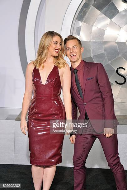 Comedian Kelsey Darragh and producer Ned Fulmer attend the premiere of Columbia Pictures' 'Passengers' at Regency Village Theatre in Westwood...