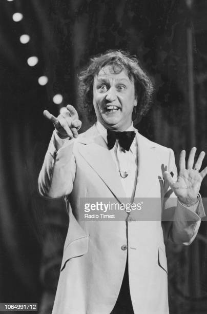 Comedian Ken Dodd performing on stage for the television variety show 'The Good Old Days', February 18th 1979. First printed in Radio Times issue...