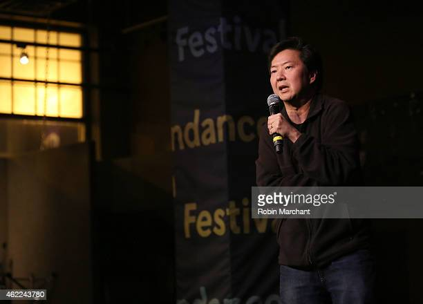 Comedian Ken Jeong speaks onstage at the Stand Up Comedy Night during the 2015 Sundance Film Festival on January 25 2015 in Park City Utah