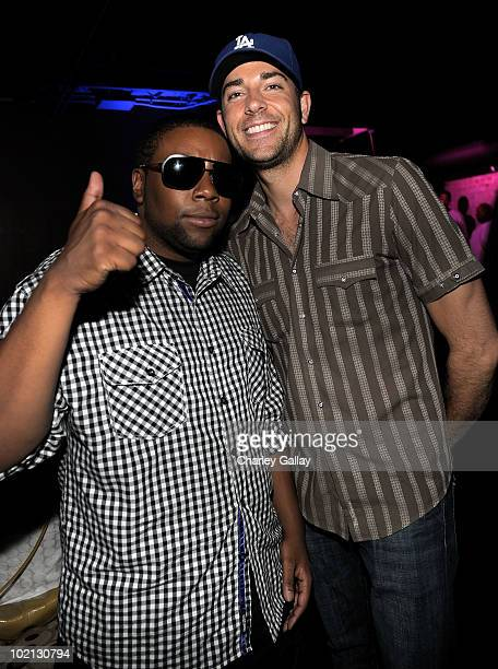 Comedian Kenan Thompson and actor Zachary Levi attend the Bulletstorm E3 2010 VIP Afterhours Party at J Lounge on June 15 2010 in Los Angeles...