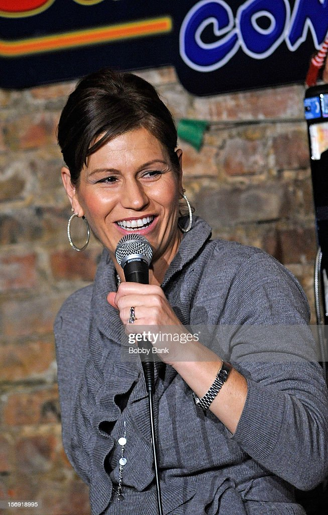 Comedian Kerri Louise performs at The Stress Factory Comedy Club on November 24, 2012 in New Brunswick, New Jersey.