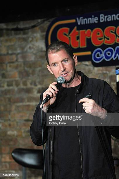 Comedian Kevin Brennan performs at The Stress Factory Comedy Club on June 17, 2016 in New Brunswick, New Jersey.