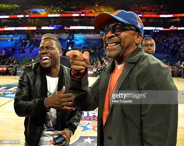 Comedian Kevin Hart and Director Spike Lee attend the State Farm AllStar Saturday Night during the NBA AllStar Weekend 2014 at The Smoothie King...