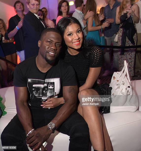 Comedian Kevin Hart and Eniko Parrish attend the 11th Annual Desert Smash Hosted By Will Ferrell Benefiting Cancer For College at La Quinta Resort...