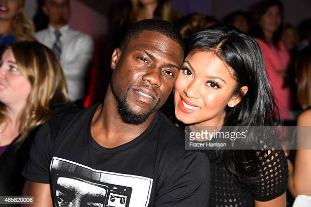 Comedian Kevin Hart and Torrei Hart attend the 11th Annual Desert Smash Hosted By Will Ferrell Benefiting Cancer For College at La Quinta Resort and...
