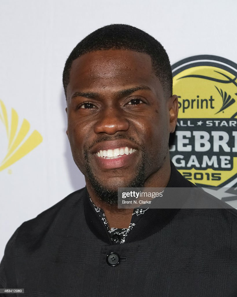 Comedian Kevin Hart arrives for the NBA All-Star Celebrity Basketball Game 2015 at Madison Square Garden on February 13, 2015 in New York City.