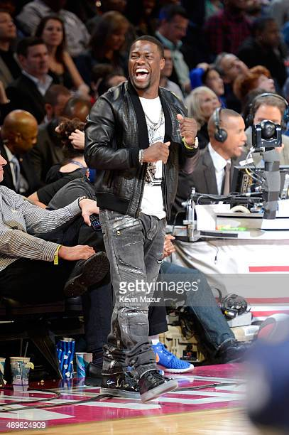 Comedian Kevin Hart attends the State Farm All-Star Saturday Night during the NBA All-Star Weekend 2014 at The Smoothie King Center on February 15,...