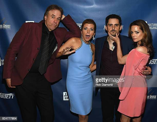 Comedian Kevin Nealon Actor Susan Yeagley Singer/Songwriter Brad Paisley and Actor Kimberly WilliamsPaisley attend the 1st Annual Nashville Shines...