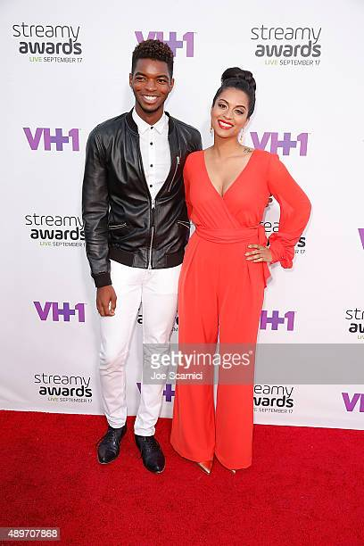 Comedian Kingsley and internet personlaity Lilly Singh attends VH1's 5th Annual Streamy Awards at Hollywood Palladium on September 17 2015 in Los...