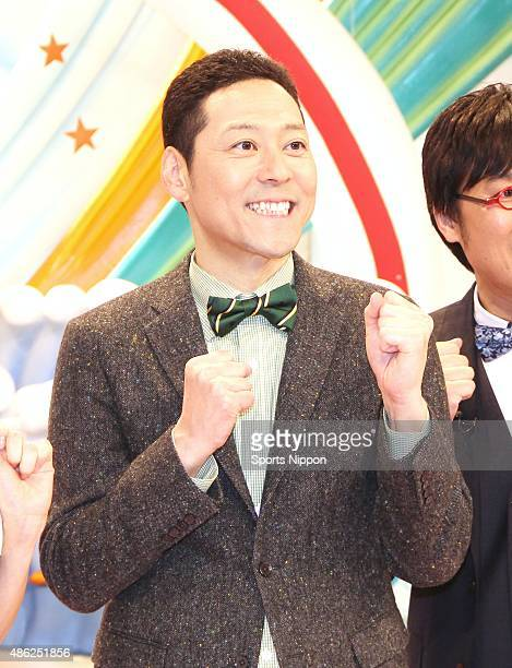 Comedian Koji Higashino attends press conference for Fuji TV Program on April 3 2015 in Tokyo Japan