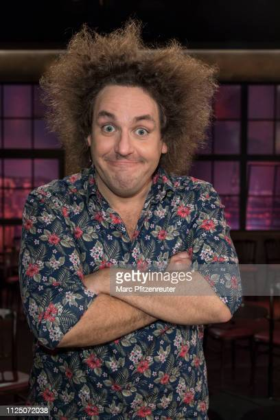 Comedian Konrad Stoeckel attends the Koelner Treff TV Show at the WDR Studio on February 15, 2019 in Cologne, Germany.