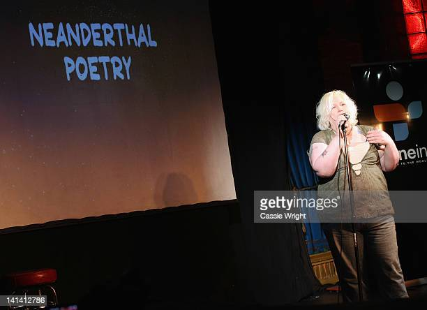 Comedian Kristine Levine performs onstage at Set List Standup Without A Net during the 2012 SXSW Music Film Interactive Festival at Esther's Follies...