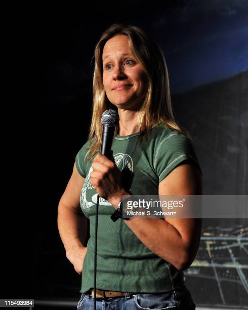 Comedian Lang Parker performs at the Ice House Comedy Club on April 9 2009 in Pasadena California