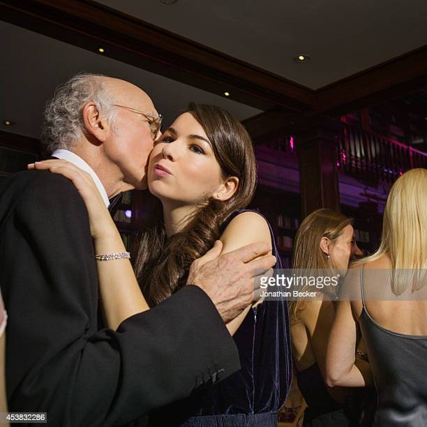 Comedian Larry David and daughter Romy are photographed for Vanity Fair Magazine on November 29 2013 at the Automobile Club de France in Paris France...