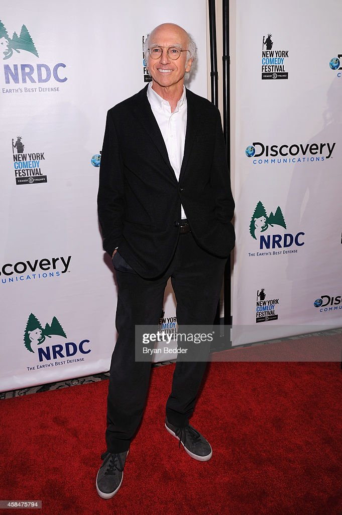 Comedian Larry David attends NRDC's 'Night Of Comedy' benefiting the Natural Resources Defense Council at 583 Park Ave on November 5, 2014 in New York City.