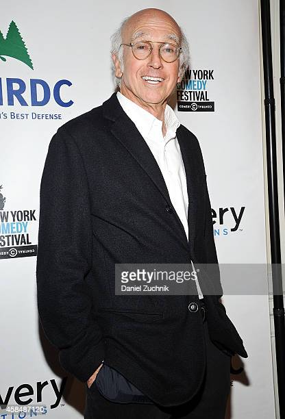 Comedian Larry David attends NRDC's 'Night Of Comedy' benefiting the Natural Resources Defense Council at 583 Park Ave on November 5, 2014 in New...